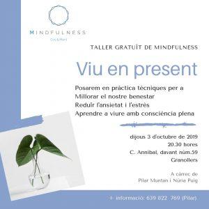 TALLER GRATUIT MINDFULNESS 3 OCT